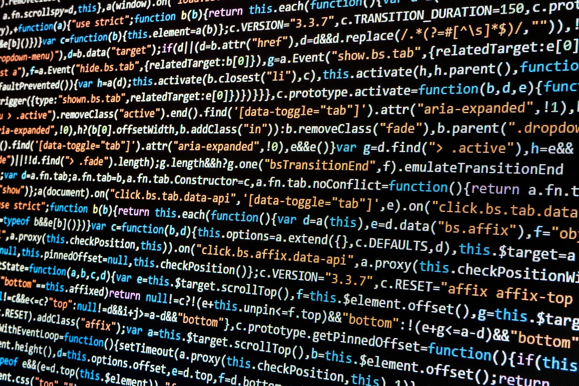Internet code screen